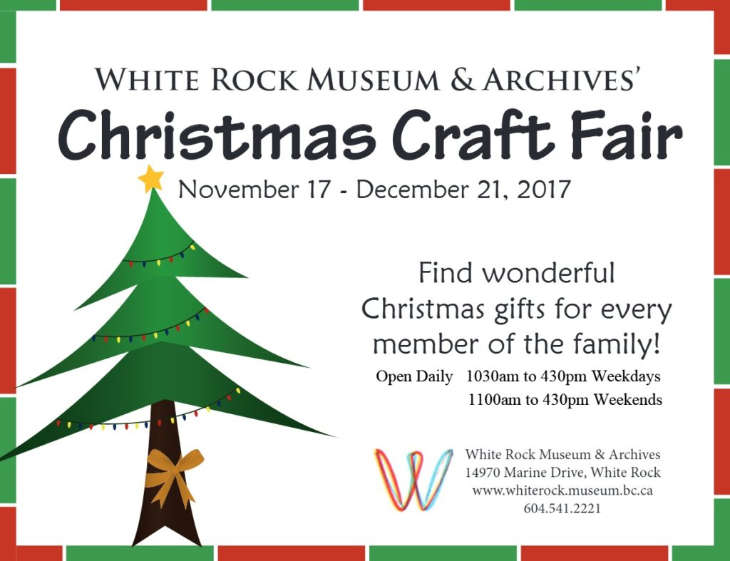 White Rock Museum Christmas Craft Fair - Explore White Rock