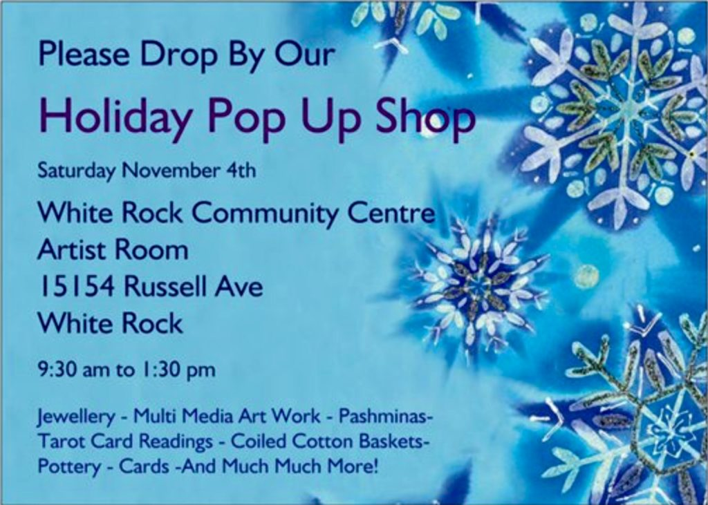 White Rock Holiday Pop Up Shop