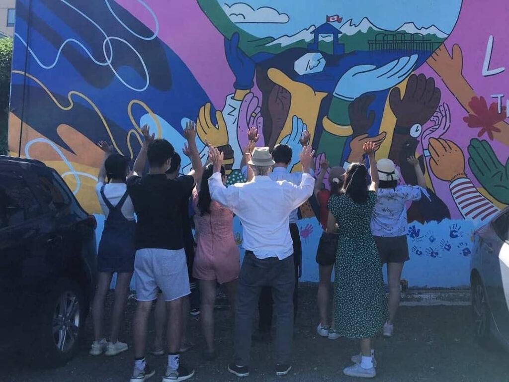 Say Thanks Surrey Mural, White Rock BC